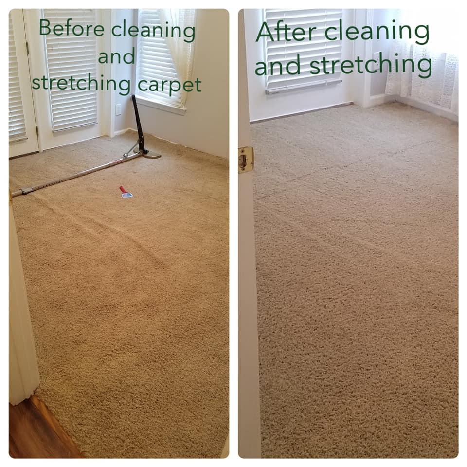 Carpet Stretching Before & After