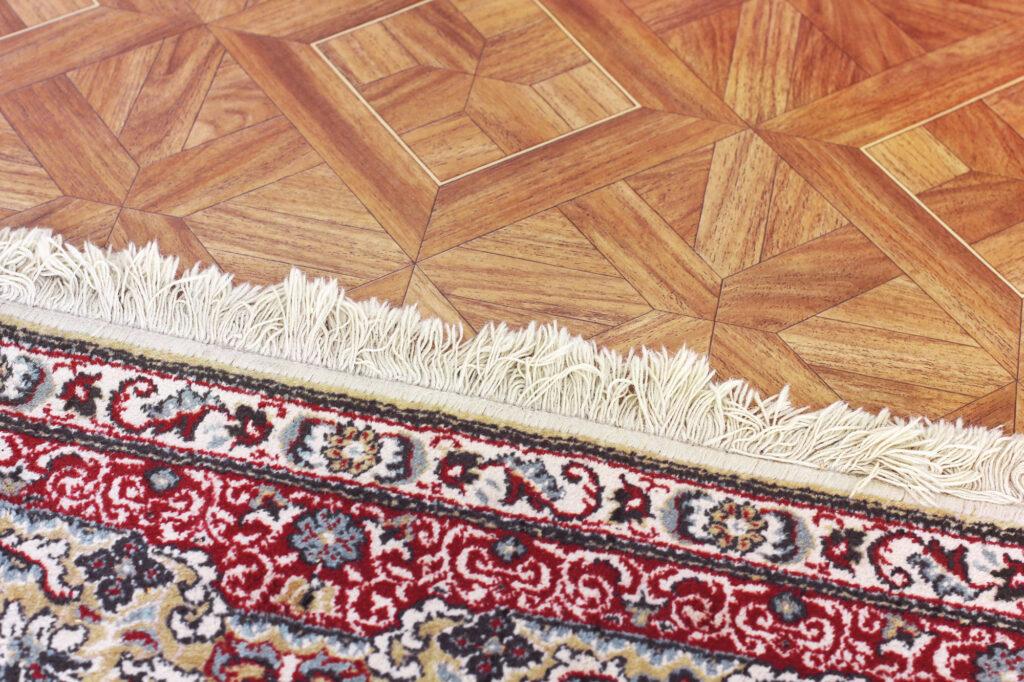 Fringe oriental area rug